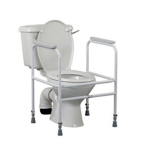 Height Adjustable Toilet Frame