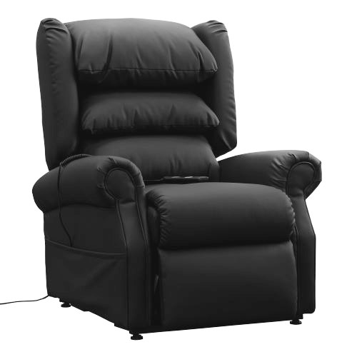 Cloud Comfort Black Dual Motor Riser Recliner