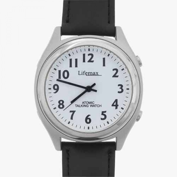 Talking Watch with Leather Strap - Mens
