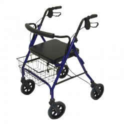 Heavy Duty Rollator - Blue