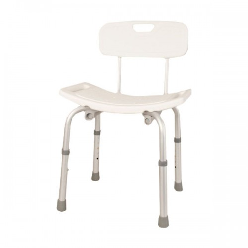 Aluminium Shower Stool with Backrest