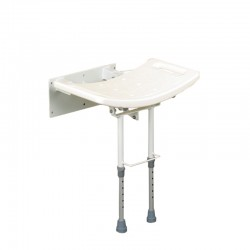 Steel Wall Mounted Shower Stool With Legs