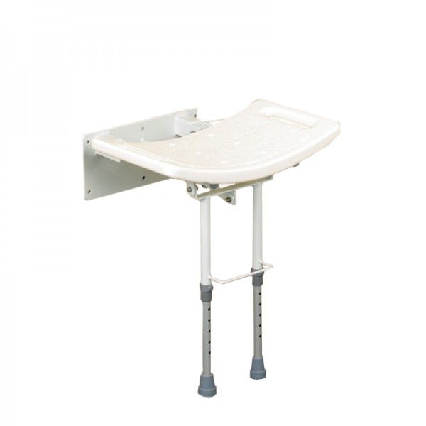 Aluminium Wall Mounted Shower Seat With Legs