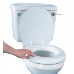 "Soft Feel 2"" Raised Toilet Seat"