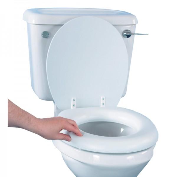 """Soft Feel 2"""" Raised Toilet Seat"""