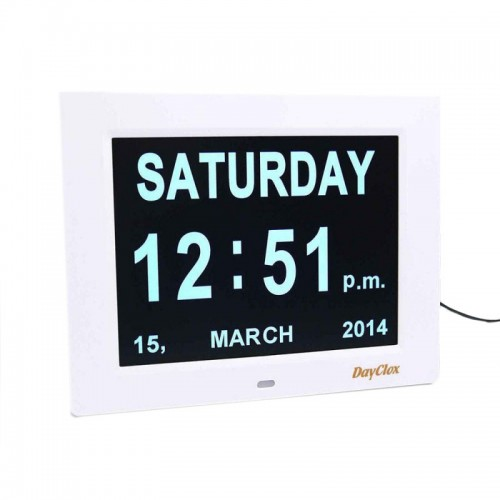 DayClox i8 Digital Clock with Plug