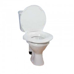 "Raised Toilet Seat Bariatric 2"" With Lid"
