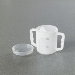 Two Handled Mug and Lids