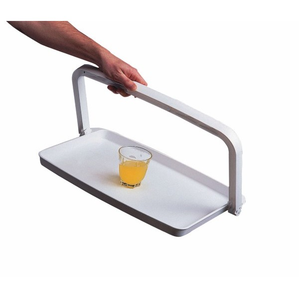 One Hand Tray with Fold Down Handle