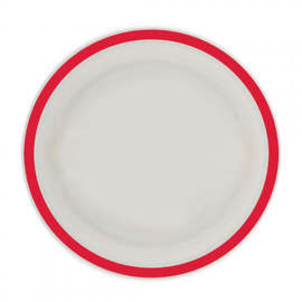 Red Rim Plate – Large