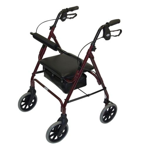 Days Lightweight Rollator Red
