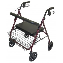 Heavy Duty Rollator - Red